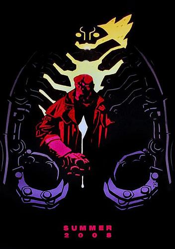 Teaser póster de Hellboy 2: The Golden Army regalado en la Comic-Con 2007